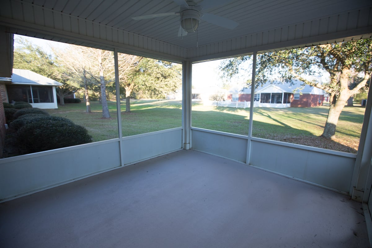 1212 Springfield Drive Screened Porch