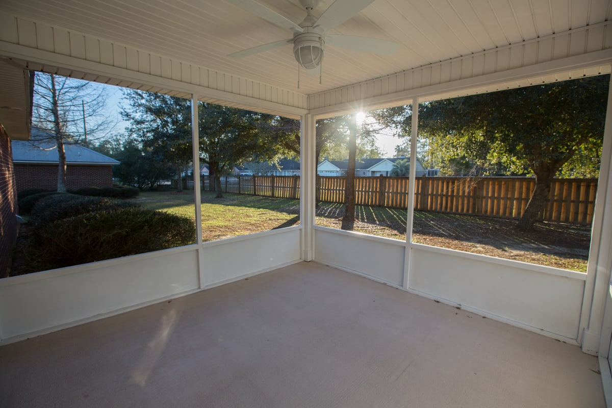 South Pointe Rental House 1205 Springfield Screened Porch